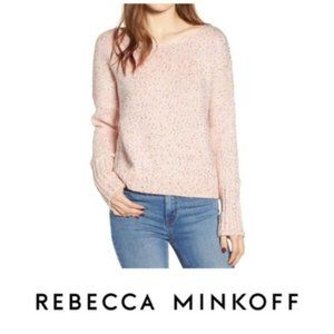 Rebecca Minkoff Pink Long Sleeve Sweater Sz L NWT